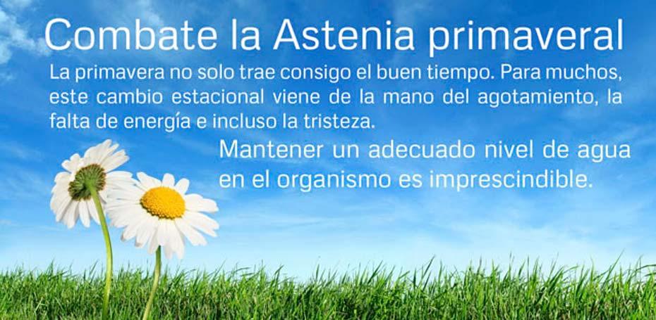 Lee más sobre el artículo Combate la Astenia primaveral. Bebe Agua!
