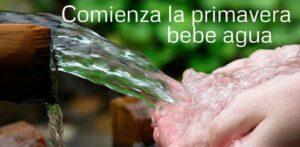 Comienza la primavera, bebe más agua!